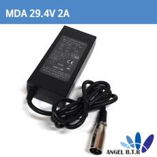 리튬이온배터리충전기 29.4V2A 29.4V 2A 60W/전기자전거,전동퀵보드 충전기 5.5/2.1