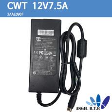 [CWT] 2AAL090F/ 12V7.5A/12V 7.5A/90W 4핀 상/하 아답타